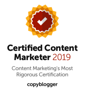 Joe Nattress Copyblogger Certified Content Marketer 2019